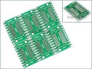 12pc SOP8 SO8 SOIC8 TSSOP8 to DIP8 Breakout Adapter PCB Interposer Board Module