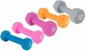 Neoprene-Dumbbell-Barbell-2lb-10lb-Womens-Yoga-Workout-Exercise-Training-Weight