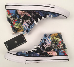 amazing price performance sportswear classic style Details about Converse All Star DC Comics Gotham City Sirens High Top Shoes  Men's Sz 9.5 *New*