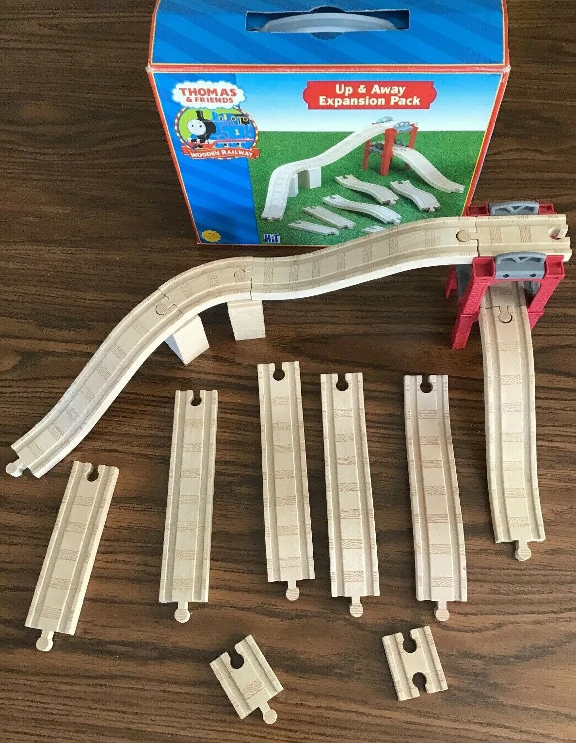 Thomas & Friends Wooden Train UP and AWAY EXPANSION PACK  Rare  Phenomenal Shape