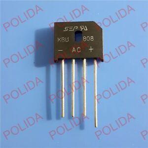 2PCS KBU808 SIP-4 KBU-808 8A 800V Bridge Rectifier