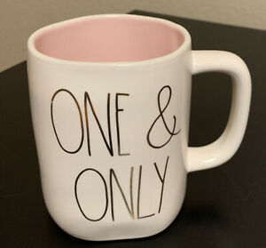 Rae dunn One And Only Mug Pink Inside Gold Letters. Coffee Mug New Rare HTF