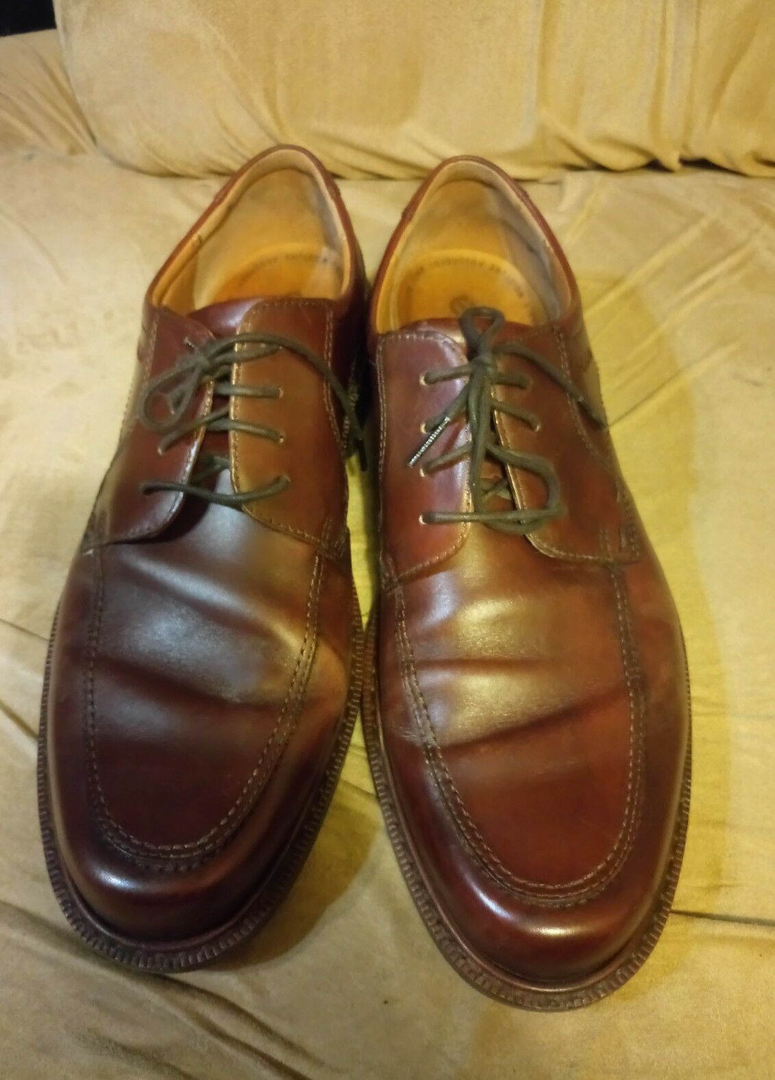 Men's Taille 13.5 13 Taille 47 euro marron dress chaussures