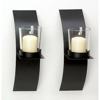 Modern Art Candle Holder Wall Sconce Plaque 10 (sets Of Two) Us Seller