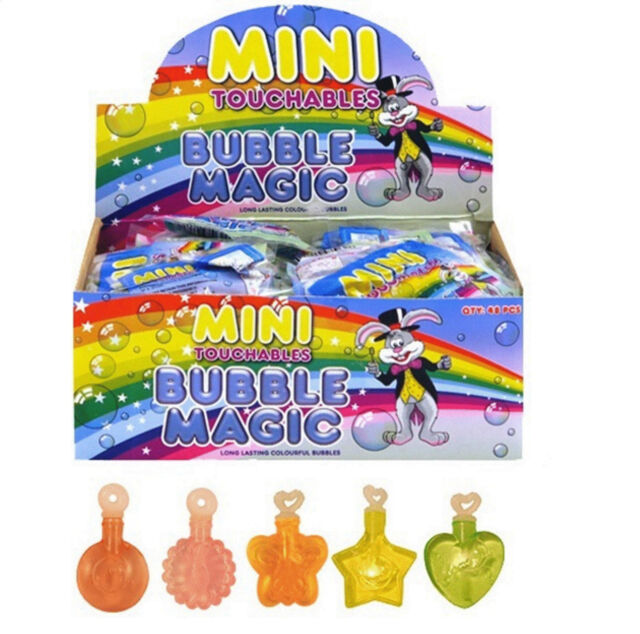 *24 CHILDRENS MINI TOUCHABLE BUBBLES CHRISTMAS STOCKING PARTY BAG FILLERS TOY*