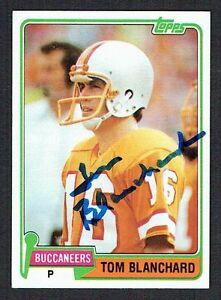 Tom-Blanchard-253-Autographe-Signe-Auto-1981-Topps-Football-Cartes-a