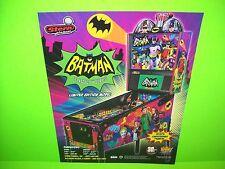 Stern BATMAN 66 LE Original NOS Flipper Game Pinball Machine Flyer Adam West