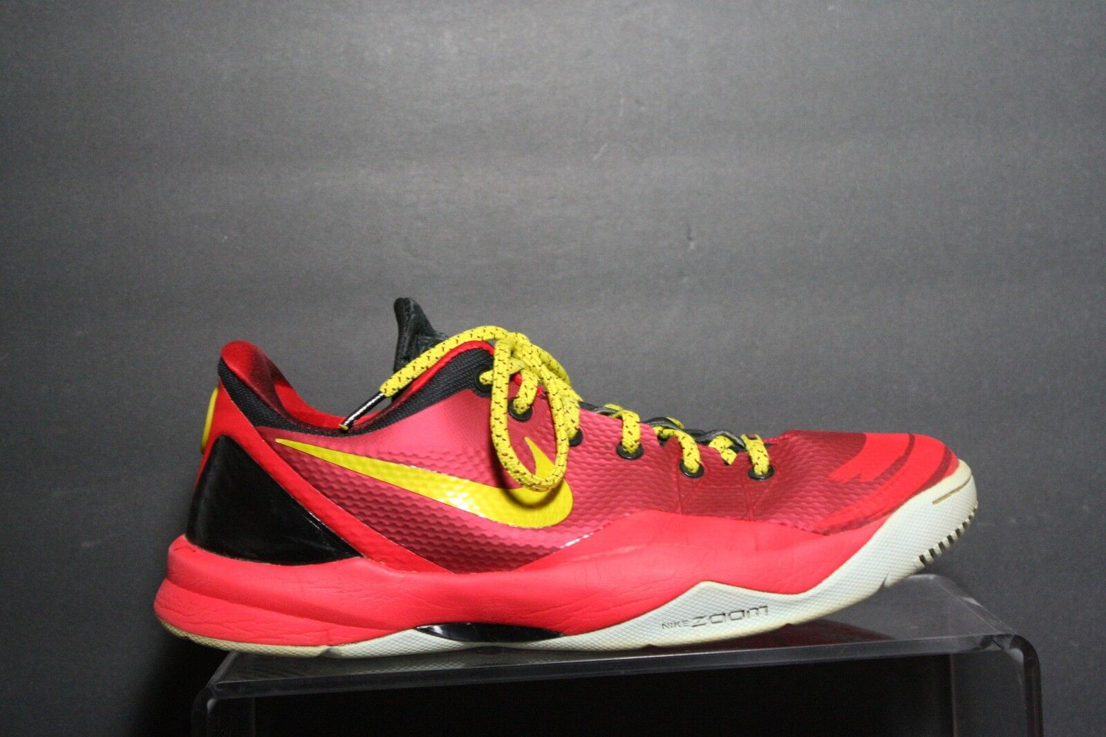 Nike Zoom Kobe 4 Venomenon Sneaker '13 Multi Red Yellow Athletic Men 12 Hip Ball