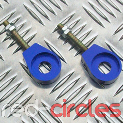 BLUE 12mm ALLOY PIT DIRT BIKE CHAIN TENSIONERS ADJUSTER PITBIKE 50cc 110cc 125cc