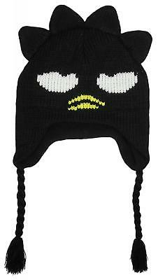 Boys Hello Kitty Character Badtz Winter Knit Peruvian Trapper Hat 3-10 Years