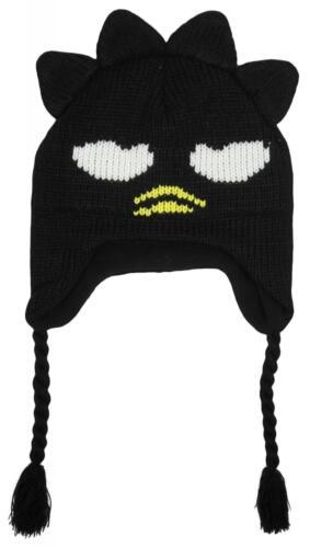 Boys Hello Kitty Character Badtz Winter Knit Peruvian Trapper Hat 3-10 Years