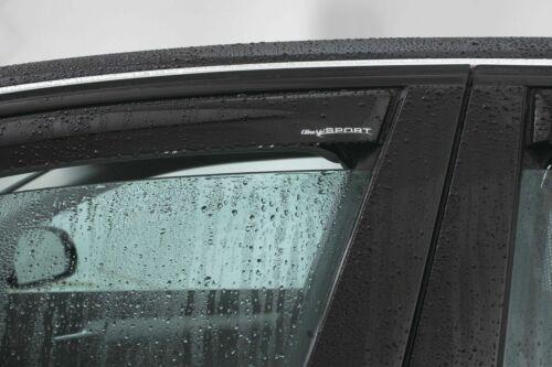 FLH ab 2018 mit ABE Tiefschwarz Climair Windabweiser Ford Focus DEH Limousine