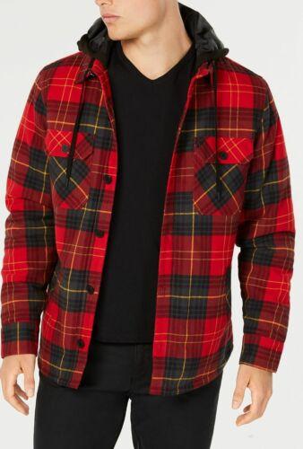 $197 American Rag Men/'s Red Plaid Sherpa Fleece Shirt Jacket Coat Winter Size M