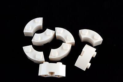 LEGO Lot of 4 White 2x2 Macaroni Specialty Brick Pieces