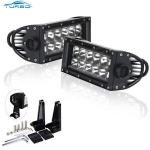 2x 7INCH 36W FLOOD LED WORK LIGHT BAR OFFROAD ATV FOG TRUCK SUV 4WD 12V VS SPOT
