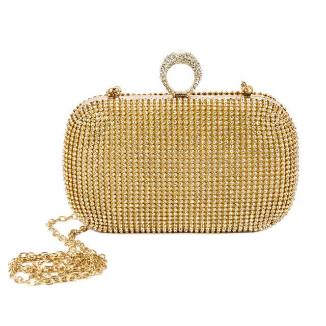 Womens Ladies Shoulder Bag Gold Chain Crossbody Handbag Satchel Bag