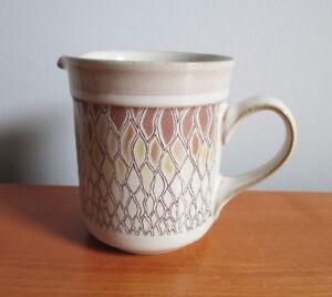 Denby-Chantilly-Creamer-8-oz-Brown-Yellow-Lace-Fine-Stoneware-England-3-5-8-034