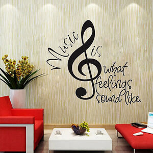 Music Notes Quote Removable Wall Decor Vinyl Sticker Mural