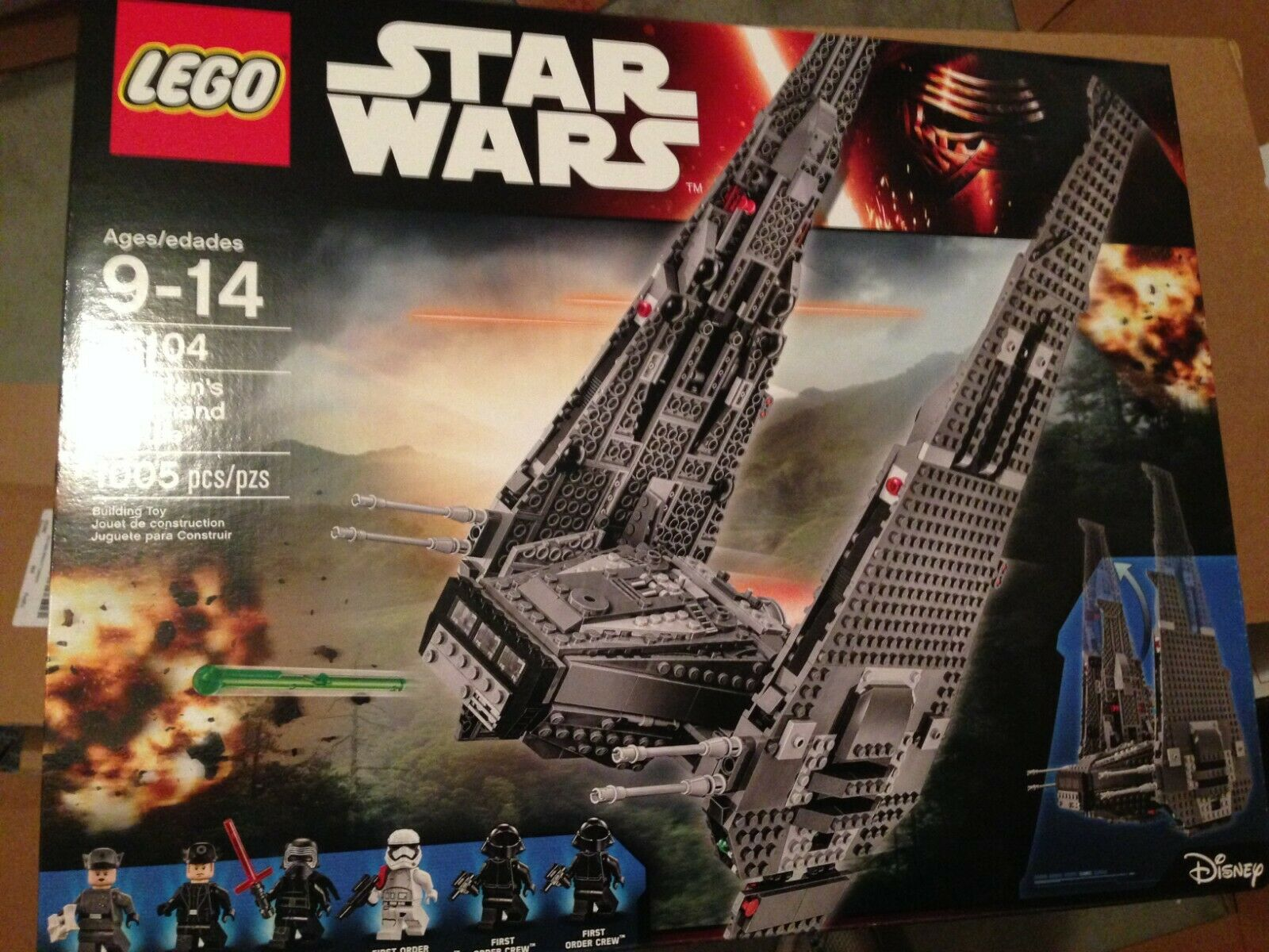 LEGO 75104  Kylo Ren's Command Shuttle NON-MINT