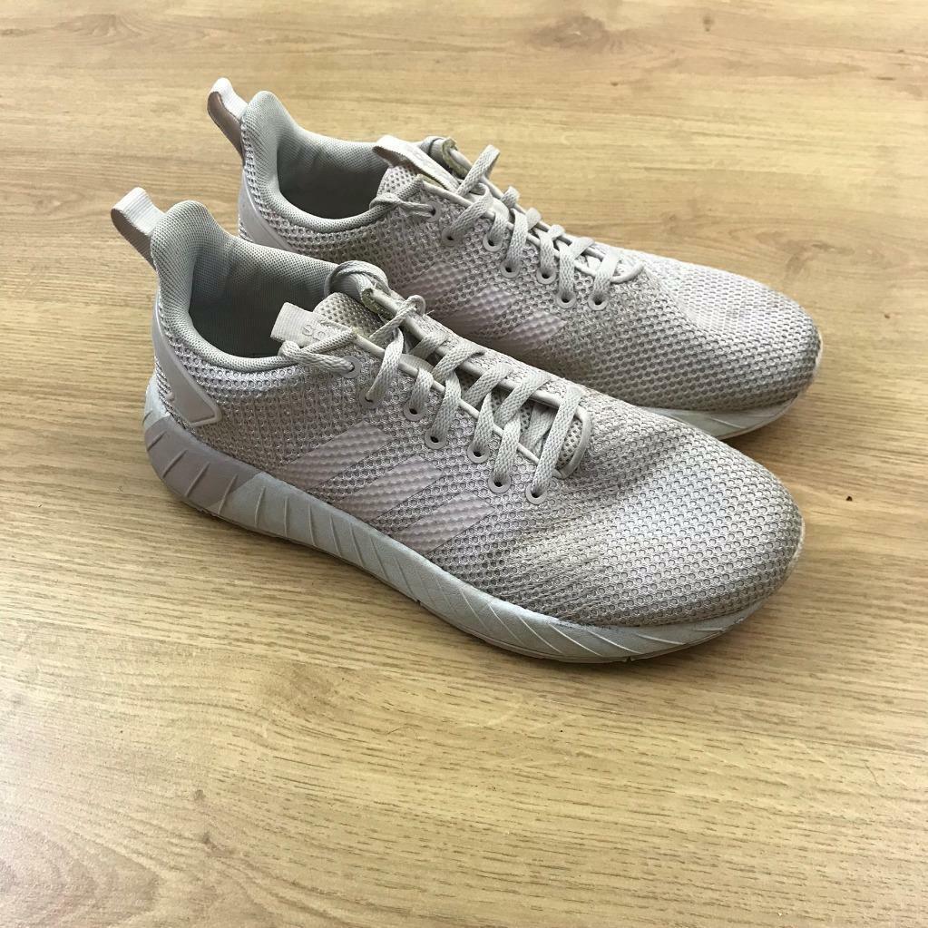 Adidas Questar BYD Rose Blanc Baskets Baskets Chaussures De Sport Taille UK 7