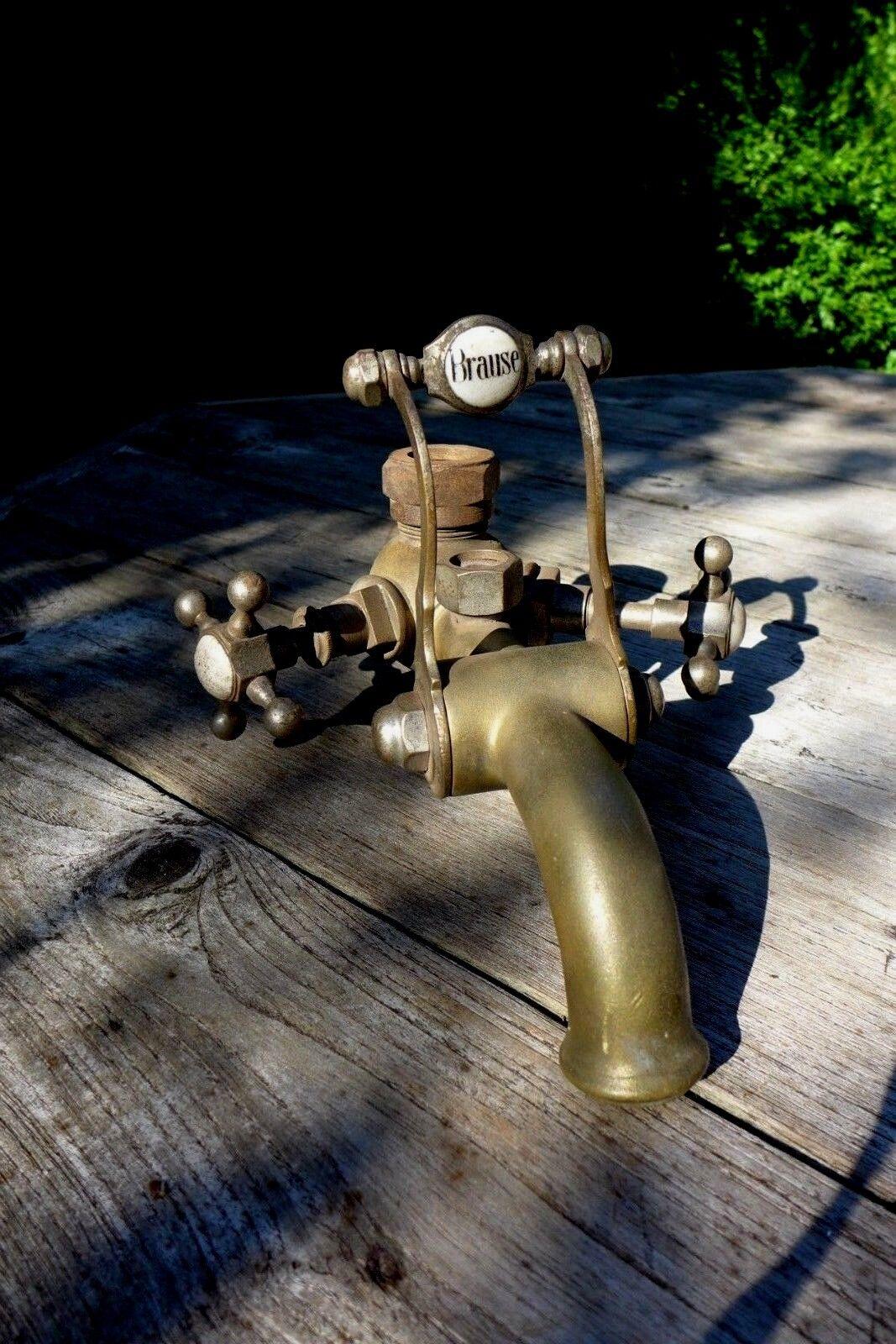 Antique en laiton massif Salle de bain robinet mélangeur, Design unique, projet COLLECTOR Original un