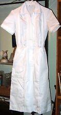 SALE -NEW Womens  Nurse  scrub  Dress / waitress uniform  size  6  White Cotton