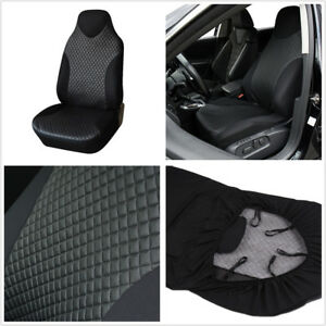 Pleasant Details About Simple Breathable Black Pu Imitated Leather Car Front Seat Protector Cover Mat Machost Co Dining Chair Design Ideas Machostcouk