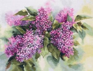 "Counted Cross Stitch Kit /""Lilac/"""