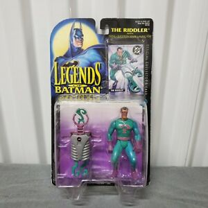 Legends of Baan Riddler DC Comics Action Figure w/ Collector's Card Sealed VTG
