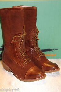 e1cb6f97611 NEW NIB ANTELOPE 447 Tabac Brown Suede and Leather Lace Up Boot Sz 6 ...