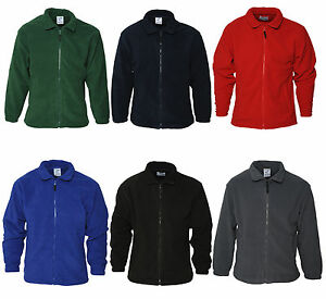 New-Adult-Herritage-Full-Zip-Fleece-Jacket-Red-Black-Navy-Grey-Green-Blue-Warm