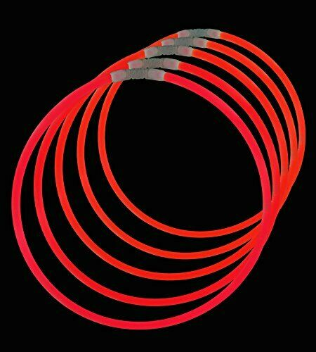 Lumistick Premium 22 Inch Glow Stick Necklaces with ConnectorsKid Safe Red..