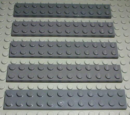 Lego Platte 2x12 new Dunkelgrau 5 Stück 529