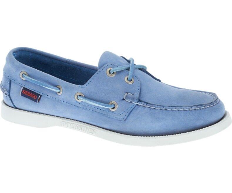 Los zapatos más populares para hombres y mujeres Descuento por tiempo limitado Sebago Docksides Nubuck Women's Deck Shoe Light Blue Nubuck B500213 NEW