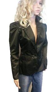 Zauberhafte langarm satin damen blazer in schwarz for Festliche blazer damen
