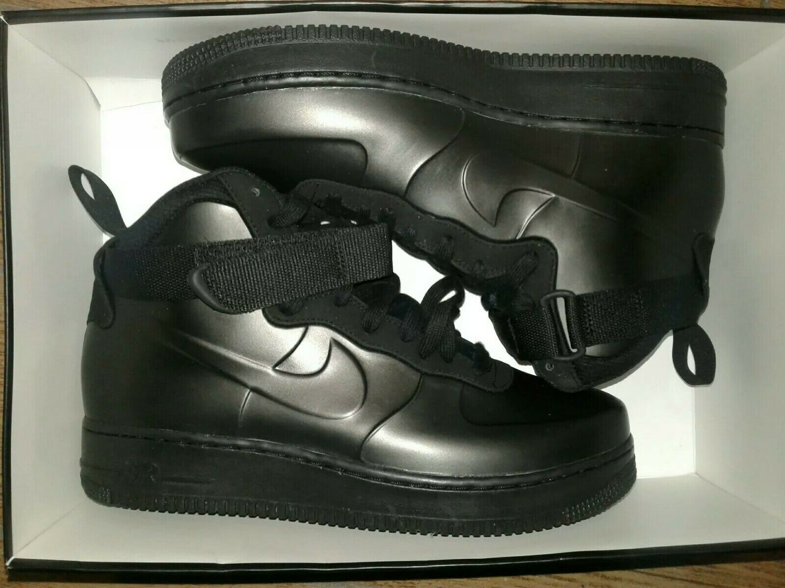 Air Force 1 Foamposite Cup Black Black-Black AH6771-001 Men's Size 8.5