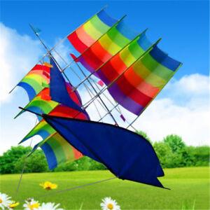 3D-Huge-Rainbow-Sailboat-Flying-Kites-Kids-Children-Outdoor-Park-Beach-Fun