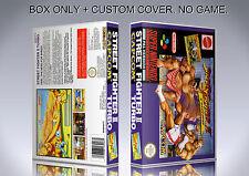 STREET FIGHTER 2 TURBO. PAL. Box/Case. Super Nintendo. BOX + COVER. (NO GAME)