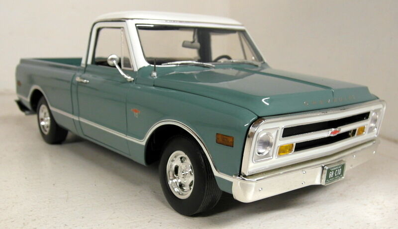Acme 1 18 escala A1807201 1968 Chevrolet C-10 Pick-up Coche Modelo Diecast verde