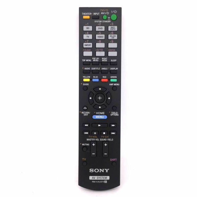 Original Sony Rm Aau072 Audio Home Theater Remote Control For Ht Ct150 148761211