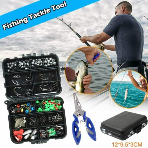UK Fishing Accessories Tool Kit Assorted Sea Fishing Tackle Swivel Jig Hook Rock