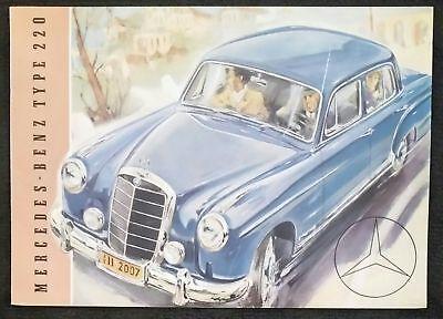 1959 Mercedes Benz 220 Sedan Sales Brochure Sheet