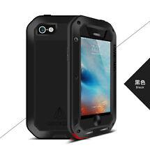 Love Mei Wasserdicht Stabiles Metallgehäuse Schutz für iPhone 5 5S SE schwarz