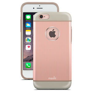 Coque-Moshi-iGlaze-Armour-iPhone-6s-Plus-aluminium-rose-avec-entourage-gel