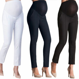 Maternity-Pregnant-Women-Capris-Casual-Trouser-Work-Office-Formal-Pants-Leggings