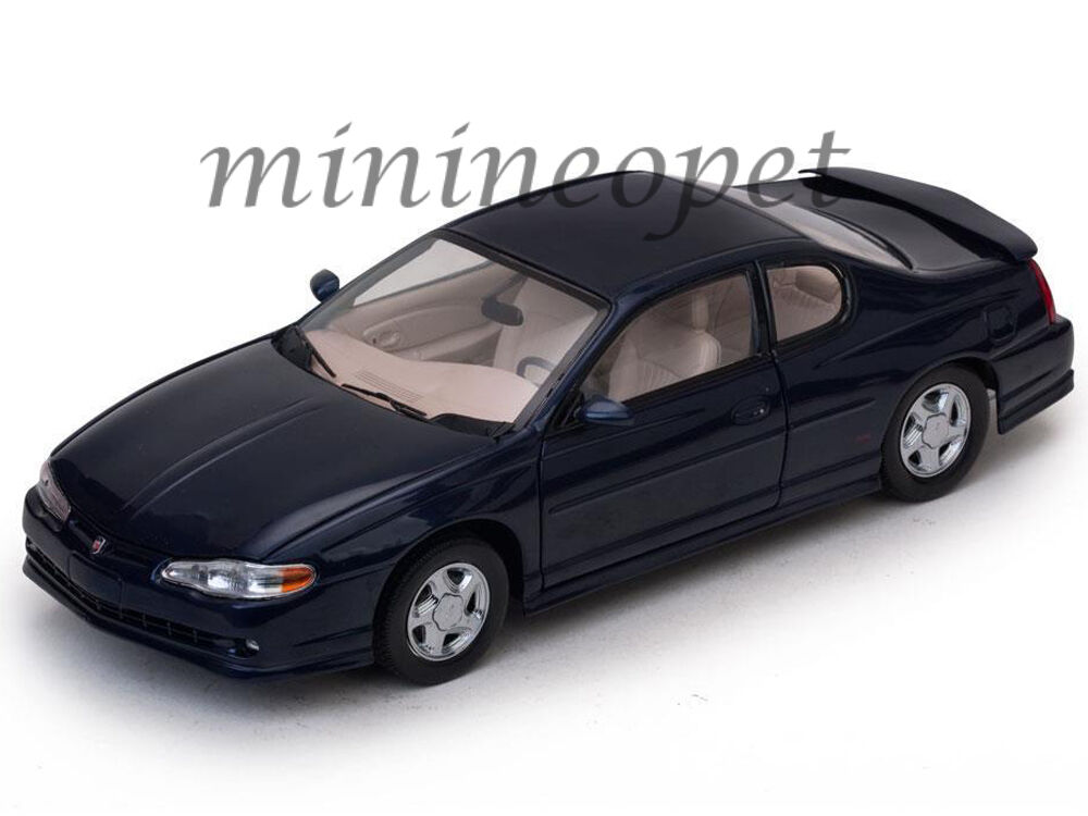 SUN STAR 1986 2000 CHEVROLET MONTE CARLO SS 1 18 DIECAST MODEL CAR NAVY blueE