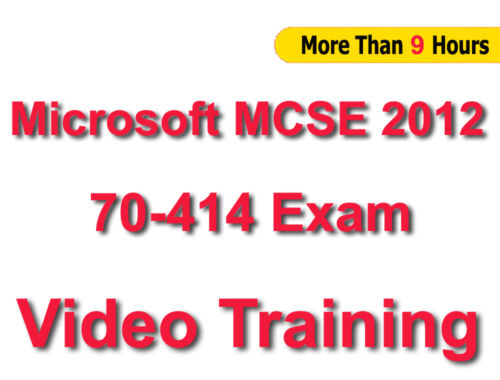 MCSE 2012 70-414 Implementing Advanced Server 2012 Video Training Tutorials CBT