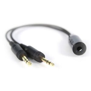 Helicopter-Headset-U174-to-GA-Dual-Plugs-General-Aviation-Headset-Adapter