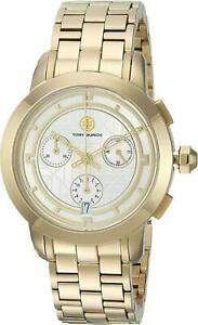 Tory Burch TBW1032 Chronograph Gold Dial Gold-Tone Stainless Steel Women's Watch