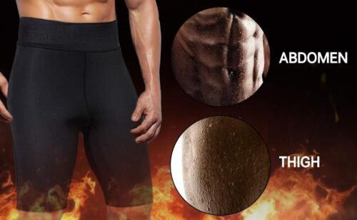 Men/'s Neoprene Thermo Sweat Sauna Body Shaper Pants Weight Loss Slimming Shorts